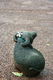 Mała śliczna Bawolia statua Obrazy Stock