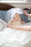 Mała ślubna dziewczyna Fotografia Royalty Free