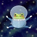 Mała śmieszna żaba ilustracja wektor