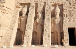 Mała świątynia Nefertari abu simbel Egiptu Fotografia Stock