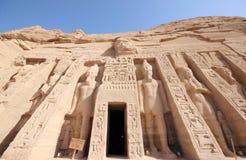 Mała świątynia Nefertari abu simbel Egiptu Zdjęcie Stock