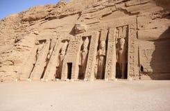 Mała świątynia Nefertari abu simbel Egiptu Fotografia Royalty Free