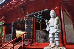 Mała świątynia wśrodku Toshogu świątyni w zimie, Nikko, Japonia Obrazy Stock