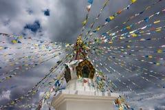 Mała świątynia z tibetan modleniem zaznacza blisko losu angeles Obrazy Stock