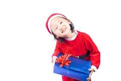 Mała Święty Mikołaj dziewczyna Obrazy Royalty Free