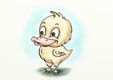 Mała żółta kaczki kreskówka obrazy stock