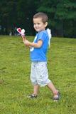 Mała anioł chłopiec Zdjęcia Royalty Free