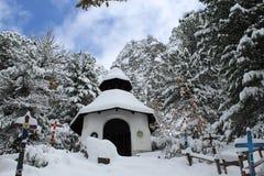 Mała biała kaplica Zdjęcie Stock
