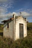 Mała biała kaplica w wsi sao Paulo obraz stock