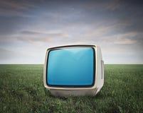 Mała Biały Telewizja Obrazy Royalty Free