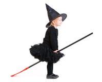mała broomstick czarownica obraz stock
