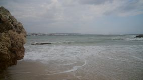 Mała burza z wybrzeża wyspa Cypr w Ayia Napa zbiory