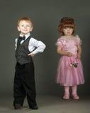 mała chłopiec dziewczyna zdjęcia royalty free