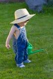 mała chłopiec ogrodniczka Obraz Royalty Free