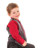 Mała chłopiec w studiu zdjęcia stock