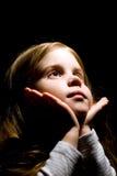 mała ciemności dziewczyna Zdjęcia Stock