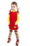 mała colorfull dziewczyna zdjęcie stock