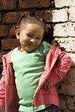 mała czarna dziewczyna grają young Obrazy Royalty Free