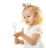 Mała czarodziejka z magiczną różdżką Zdjęcie Stock