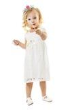 Mała czarodziejka z magiczną różdżką Fotografia Royalty Free