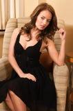 Mała czerni suknia zdjęcie royalty free