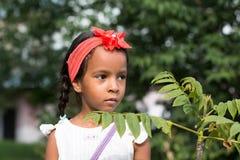 Mała dębna dziewczyna plenerowa Obraz Royalty Free