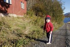mała droga chłopcze kraju fotografia stock