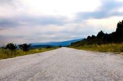mała droga w naturze zdjęcia stock