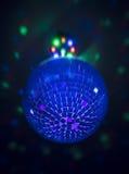 Mała dyskoteki piłka z światłami behind Fotografia Royalty Free