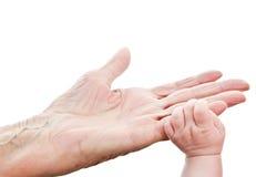 stara i potomstwa ręka Zdjęcia Stock