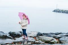 mała dziewczyna parasolkę Obraz Royalty Free