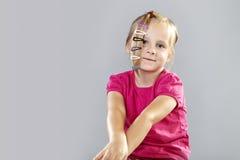 Mała dziewczynka w studiu Zdjęcia Stock
