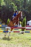 Mała dziewczynka - jeździec Obraz Royalty Free