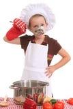 Mała dziewczynka kucharz Zdjęcia Royalty Free