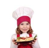 Mała dziewczynka kucharz Obrazy Royalty Free