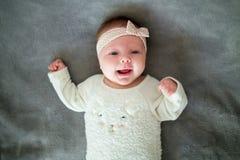 Mała dziewczynka 2 miesiąca Zdjęcie Royalty Free