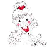 Mała dziewczynka na brzegowy bawić się Obrazy Stock