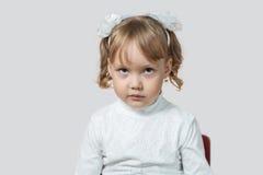 Mała dziewczynka obrażał Obrazy Royalty Free
