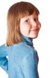 Mała dziewczynka obracająca z powrotem Zdjęcie Royalty Free