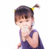 Mała dziewczynka odizolowywająca Obrazy Stock