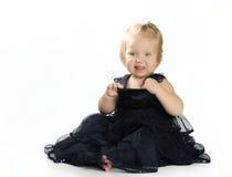 Mała Dziewczynka Odizolowywająca na bielu zdjęcie royalty free