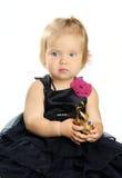 Mała Dziewczynka Odizolowywająca na bielu obrazy stock