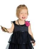 Mała Dziewczynka Odizolowywająca na bielu zdjęcie stock