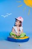 Mała dziewczynka połów Fotografia Royalty Free