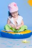 Mała dziewczynka połów Zdjęcie Royalty Free