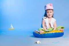 Mała dziewczynka połów Zdjęcie Stock