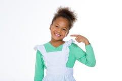 Mała dziewczynka pokazuje uśmiech Obraz Stock