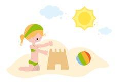 Mała dziewczynka przy morzem Zdjęcia Stock