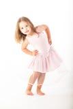 Mała dziewczynka taniec fotografia stock