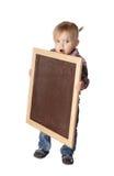 Mała Dziewczynka trzyma deskę Zdjęcie Stock